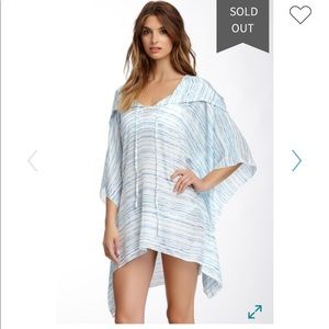 Mikoh hooded silk coverup
